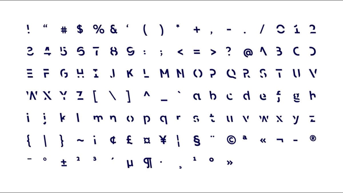 Шрифт Sans Forgetica