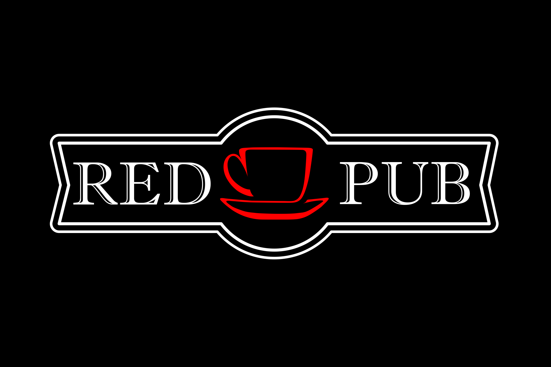 Red Cup Pub - темный фон