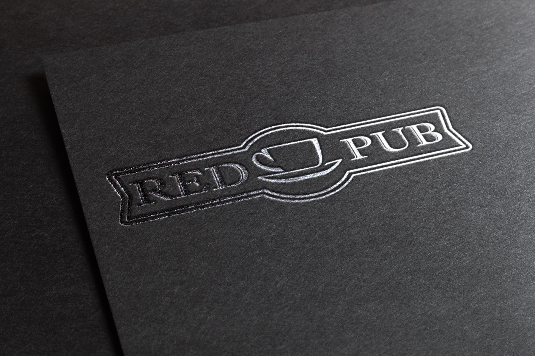 Red Cup Pub - серебряное тиснение