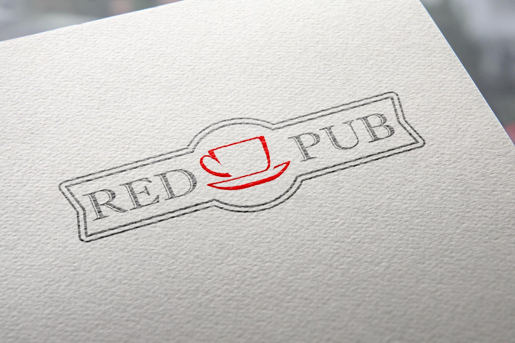 Red Cup Pub - полноцветная печать
