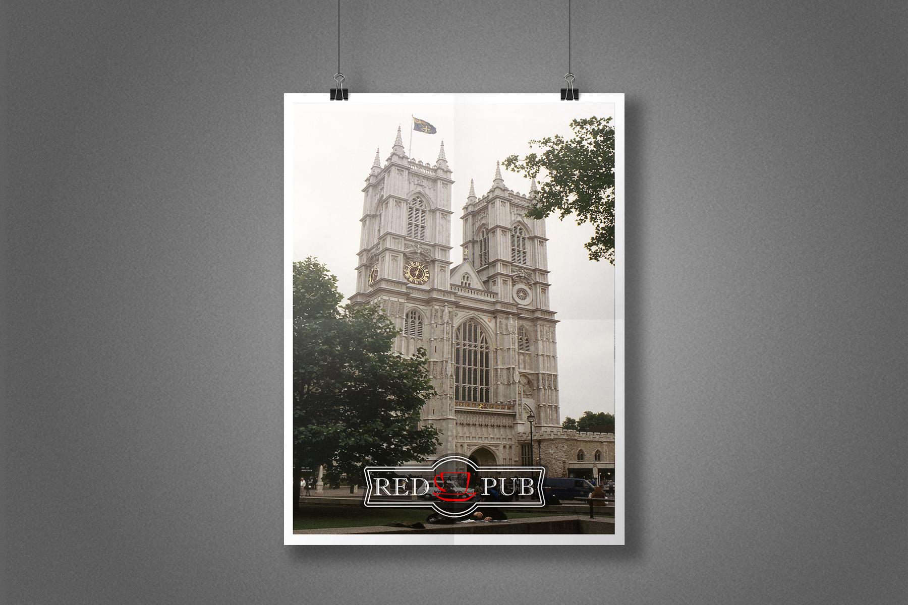 Плакат Red Cup Pub - Лондон, Вестминстерское аббатство