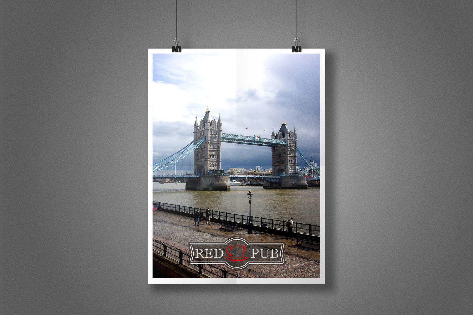 Плакат Red Cup Pub - Лондон, Тауэрский мост