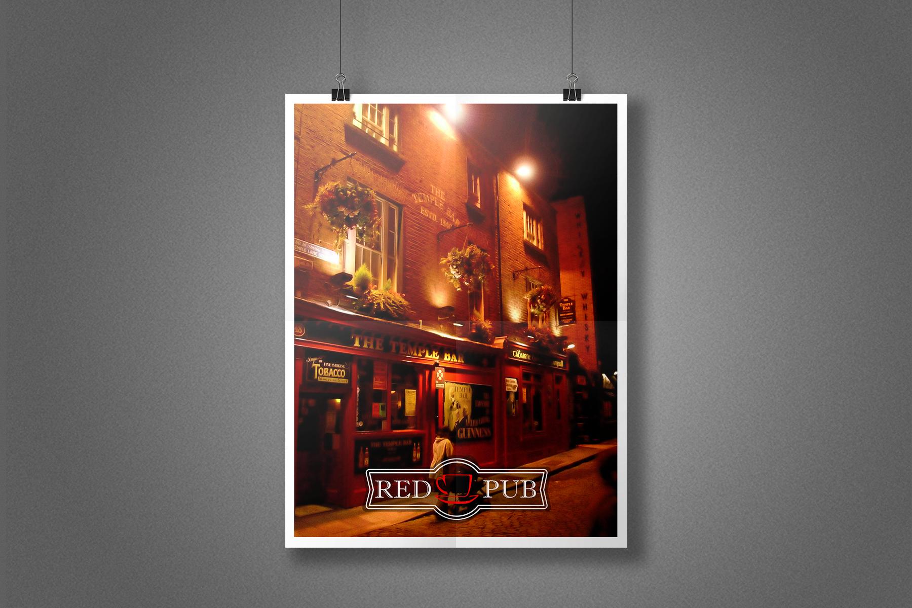 Плакат Red Cup Pub - Дублин, паб