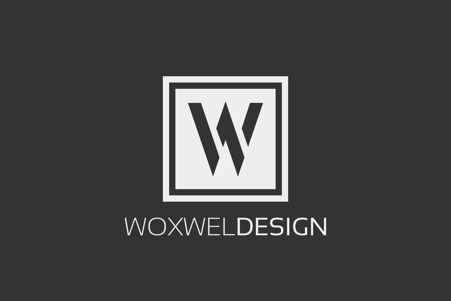 Логотип Woxwel Design - темный фон