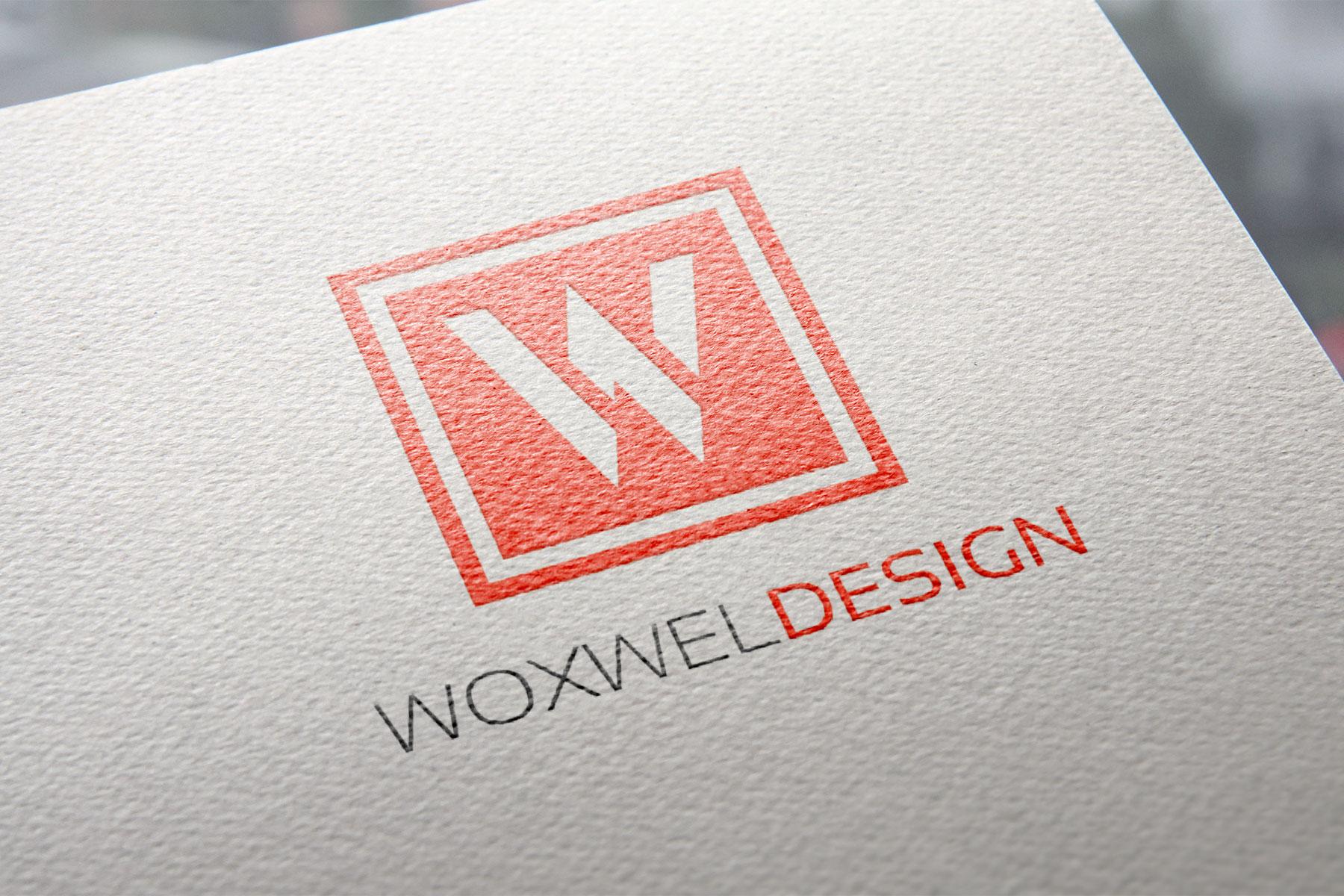 Логотип Woxwel Design - цветная печать