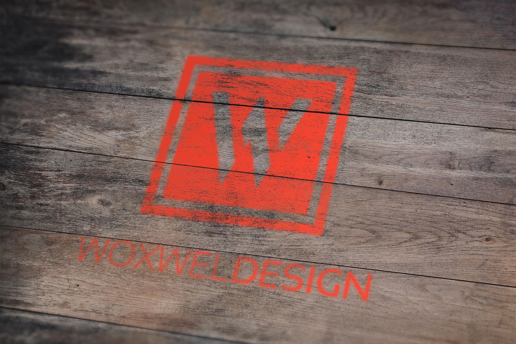 Логотип Woxwel Design - трафарет