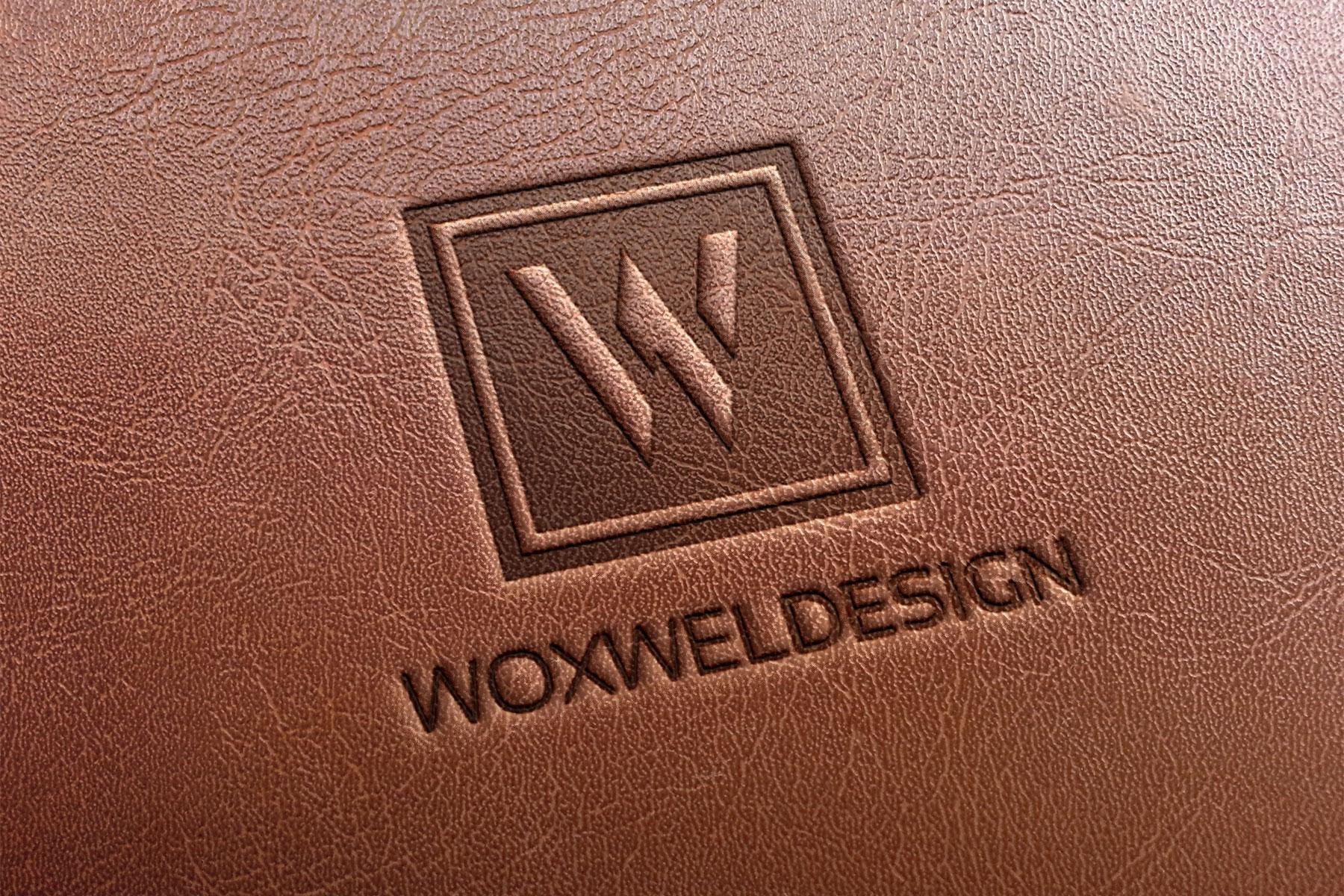 Логотип Woxwel Design - тиснение на коже